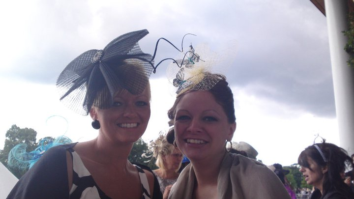 Bespoke fascinators worn at Ascot