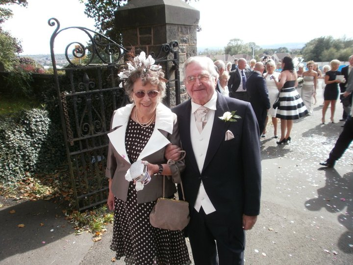 Grandmother of the groom wearing Julia